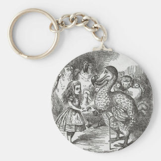 Alice in Wonderland and the Gryphon Keychain