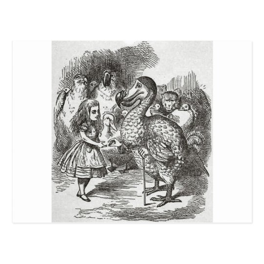 Alice in Wonderland and the Gryphon Postcard