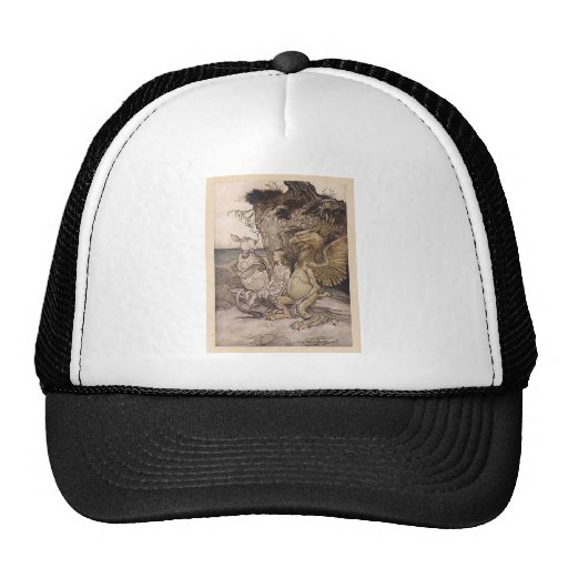 Alice in Wonderland and the Mock Turtle Trucker Hat