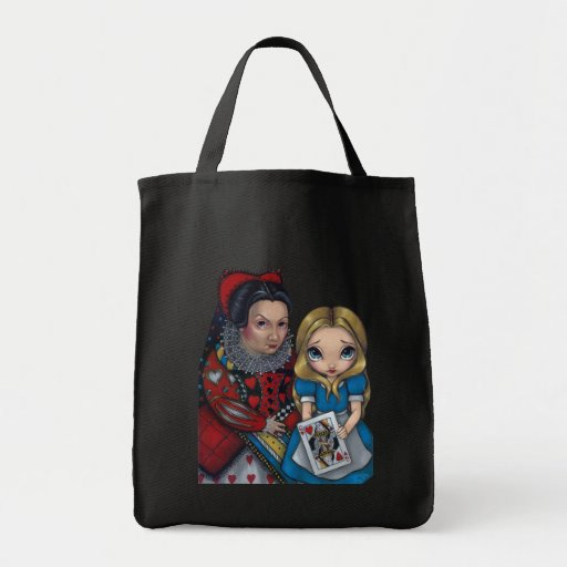 Alice in Wonderland and The Queen Of Hearts Bag
