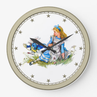 Alice in Wonderland and the White Rabbit Clock