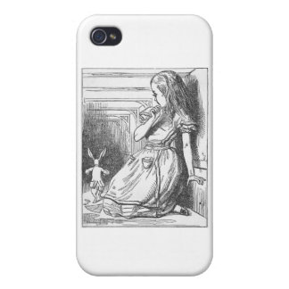 Alice in Wonderland and White Rabbit iPhone 4/4S Cases