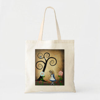 Alice in Wonderland Art Alice and Flowers Bag