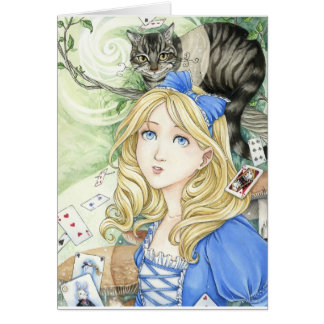 Alice in Wonderland art Card by Meredith Dillman