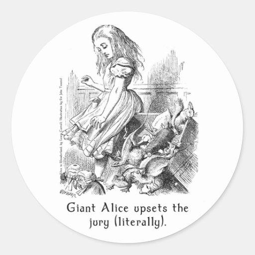 Alice in Wonderland Art Stickers in 2 Sizes
