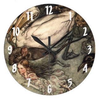 Alice in Wonderland Arthur Rackham Wall Clock