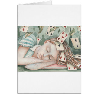 Alice in Wonderland asleep Card