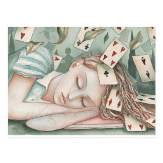 Alice in Wonderland asleep Postcard