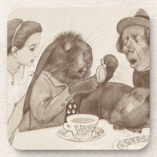 Alice in Wonderland, at the Tea Table Drink Coaster