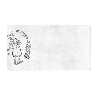 Alice In Wonderland Avery Label