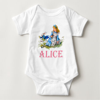 ALICE IN WONDERLAND BABY BODYSUIT