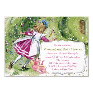 Alice in Wonderland Baby Shower Card