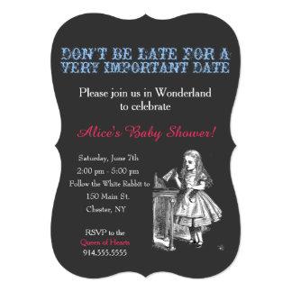 Alice in Wonderland baby shower custom vintage Card