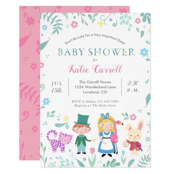 Baby Shower Invitations Pink