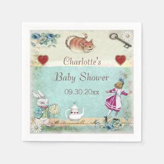 Alice in Wonderland Baby Shower Personalized Napkin
