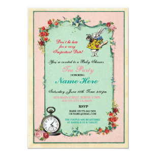 Alice in Wonderland Invitations 600 Alice in Wonderland