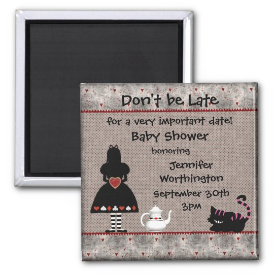 Alice in Wonderland Baby Shower Save the Date Magnet