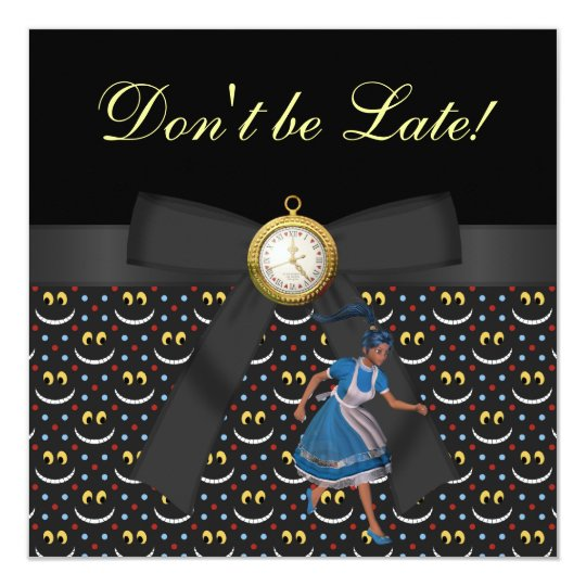 Alice in Wonderland Baby Shower Tea Party Invites