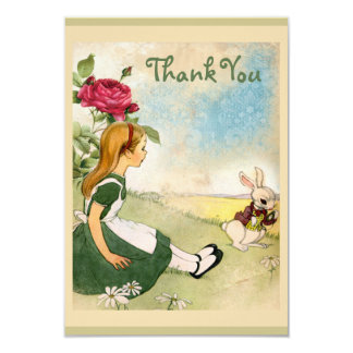 Alice in Wonderland Baby Shower Thank You Card