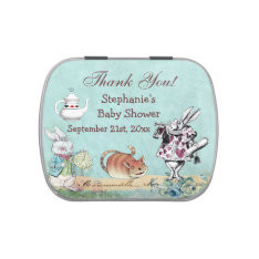 Alice In Wonderland Baby Shower Thank You Favor Jelly Belly Candy Tins at Zazzle