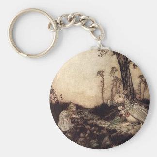 Alice in Wonderland Basic Round Button Keychain