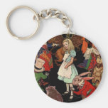 Alice in Wonderland Basic Round Button Keychain