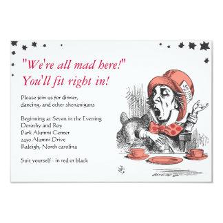 Alice In Wonderland Bat Mitzvah Party Card Custom Invitations