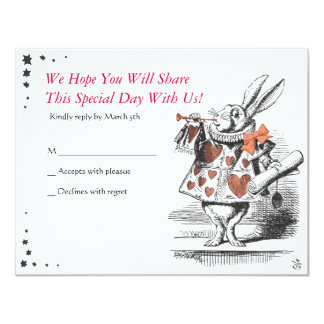 Alice In Wonderland Bat Mitzvah Reply Card
