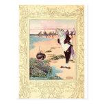 Alice in Wonderland - Beach Scene Postcard