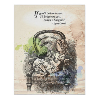 "Alice in Wonderland ""Believe"" Print"