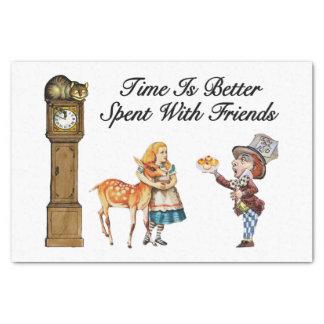 "Alice In Wonderland Better With Friends 10"" X 15"" Tissue Paper"