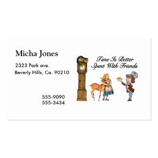 Alice In Wonderland Better With Friends Business Card