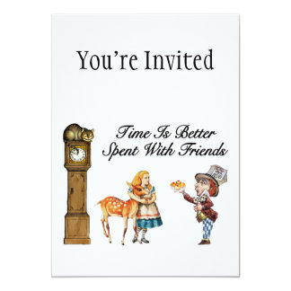 Alice In Wonderland Better With Friends Card