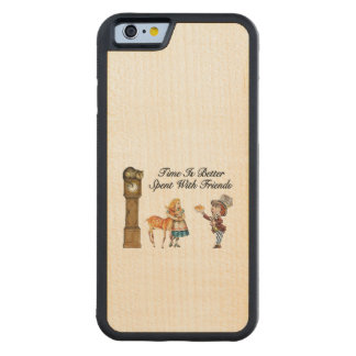 Alice In Wonderland Better With Friends Carved Maple iPhone 6 Bumper Case