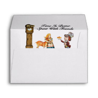 Alice In Wonderland Better With Friends Envelope