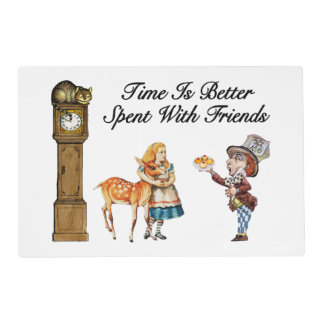 Alice In Wonderland Better With Friends Placemat