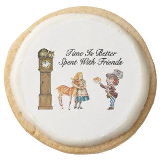 Alice In Wonderland Better With Friends Round Shortbread Cookie