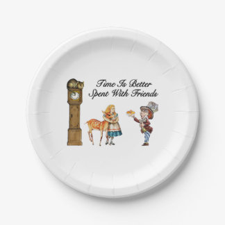 Alice In Wonderland Better With Friends 7 Inch Paper Plate