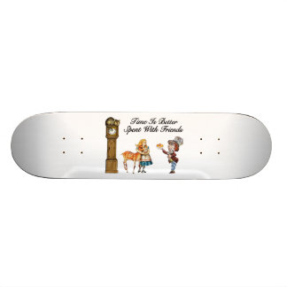 Alice In Wonderland Better With Friends Skateboard Deck