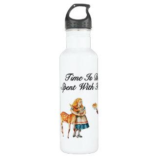 Alice In Wonderland Better With Friends Stainless Steel Water Bottle