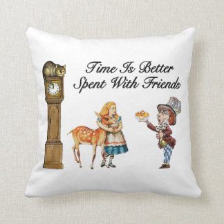 Alice In Wonderland Better With Friends Throw Pillow