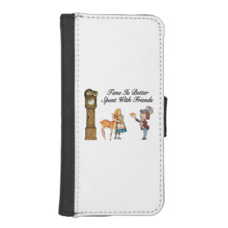 Alice In Wonderland Better With Friends Wallet Phone Case For iPhone SE/5/5s