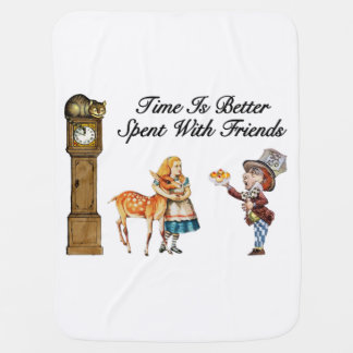 Alice In Wonderland Better With Friends Swaddle Blanket