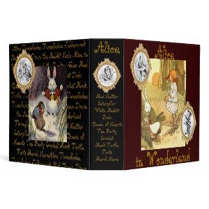 Alice in Wonderland Binder binder