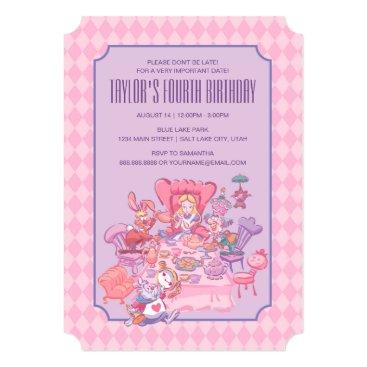 Disney Themed Alice in Wonderland   Birthday Card