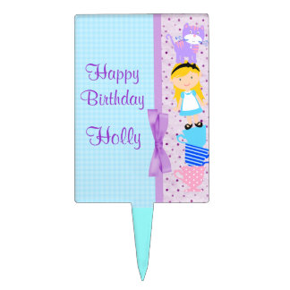 Alice In Wonderland Birthday Celebration Cake Topper