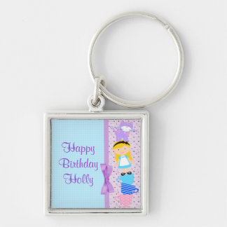 Alice In Wonderland Birthday Celebration Key Chain