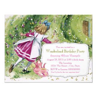 Alice in Wonderland Birthday Party Card