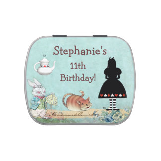 Alice in Wonderland Birthday Party Favor Jelly Belly Tin
