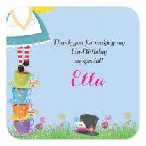 Alice in Wonderland Birthday Party Favor Stickers